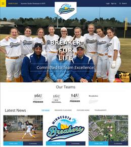 Development of a Website for Sports Industry in USA – Minnesota Breakers
