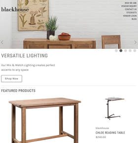 SynapseCo Portfolio - Enhancement in a BigCommerce Website for Furniture Brand in USA - Blackhouse