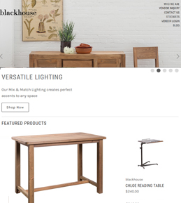 Enhancement in a BigCommerce Website for Furniture Brand in USA – Blackhouse