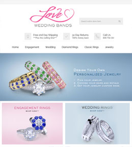 Upgradation of a Magento Website for Jewelry Brand, USA – LoveWeddingBands
