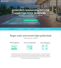Responsive Website Design & Development for PPC Agency, USA – AquaClix