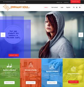 SynapseCo Portfolio - WordPress Website Development for Non-Profit Industry, USA - Epiphany Soul Big