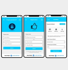 Mobile App Prototype Design for Insurance Company, USA - UNIG
