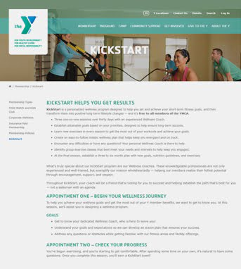 cms website development healthcare YMCA