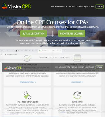 Website Development for Education Industry 'MasterCPE' in CakePHP