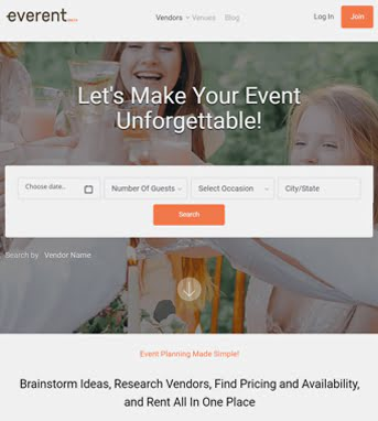 Website Development for Event Industry 'Everent' in Laravel
