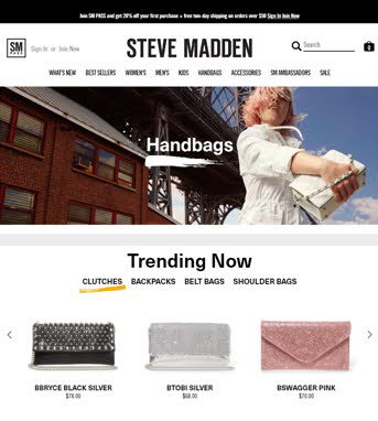 Website Development for Retail Industry 'Steve Madden' in .NET & Shopify